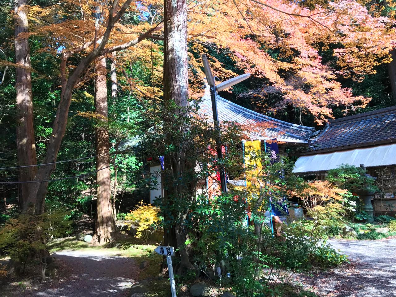 赤山禅院の紅葉 七福神付近