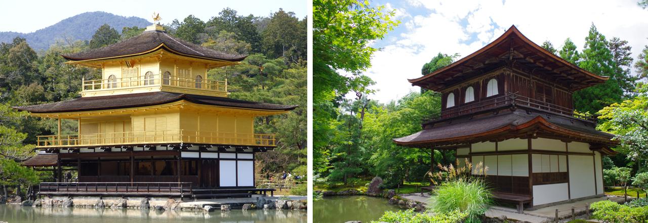 銀閣寺と金閣寺の比較