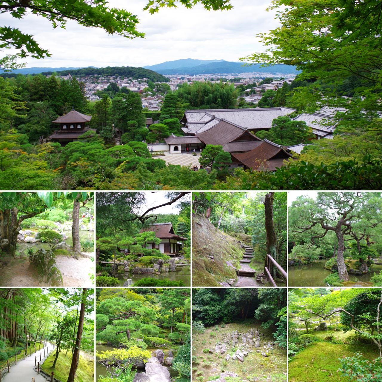 銀閣寺からの眺め