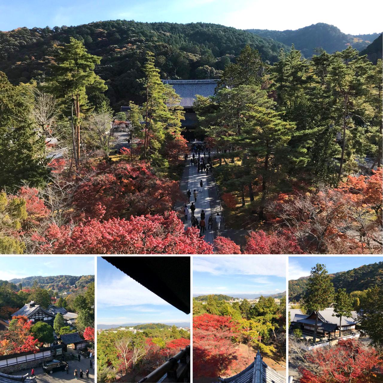 南禅寺山門(五鳳桜)からの紅葉時の眺め