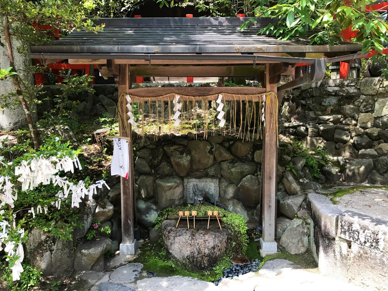 八大神社の手水舎
