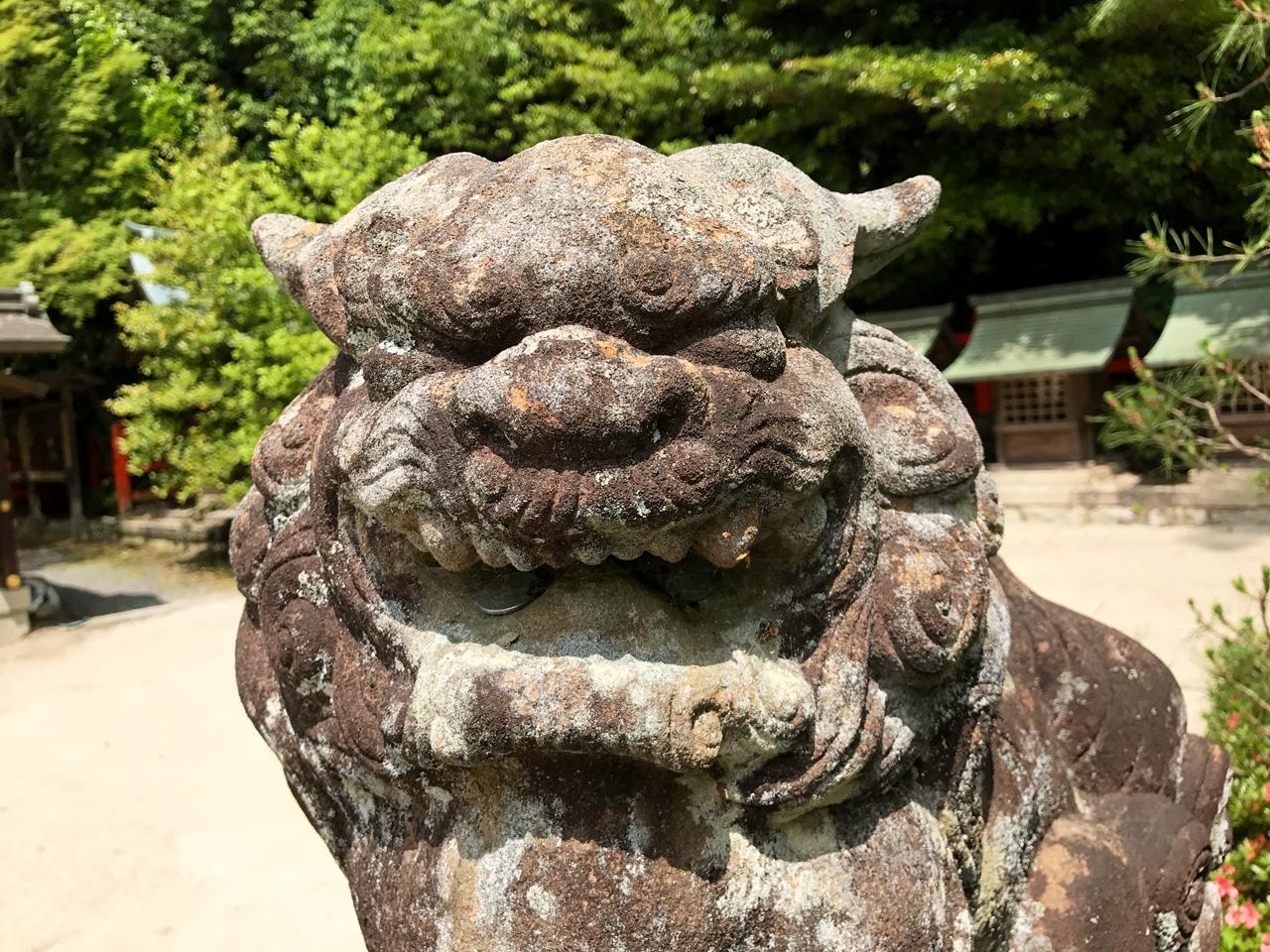 八大神社の獅子