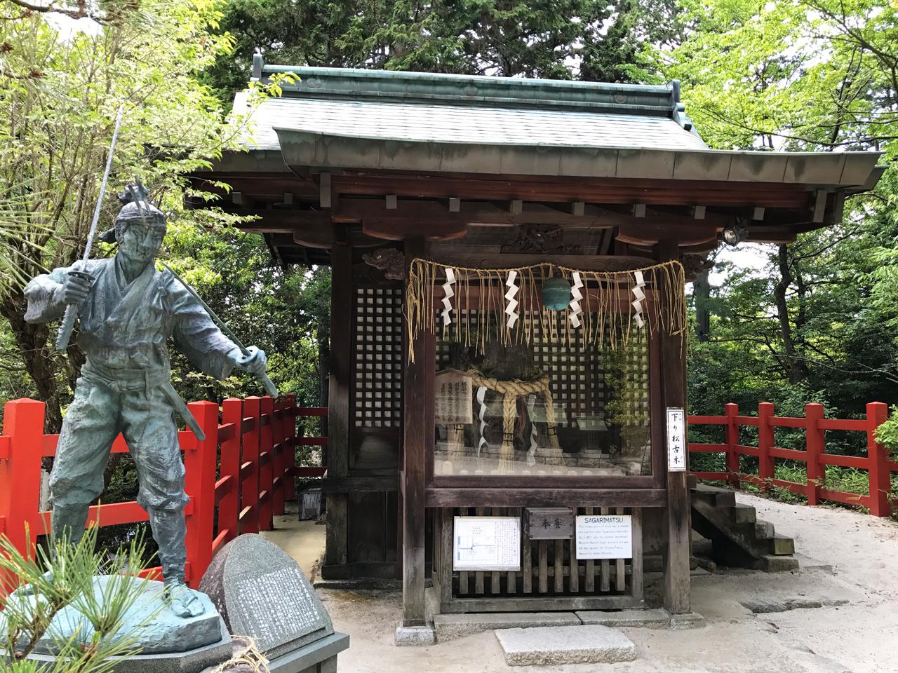八大神社の宮本武蔵像