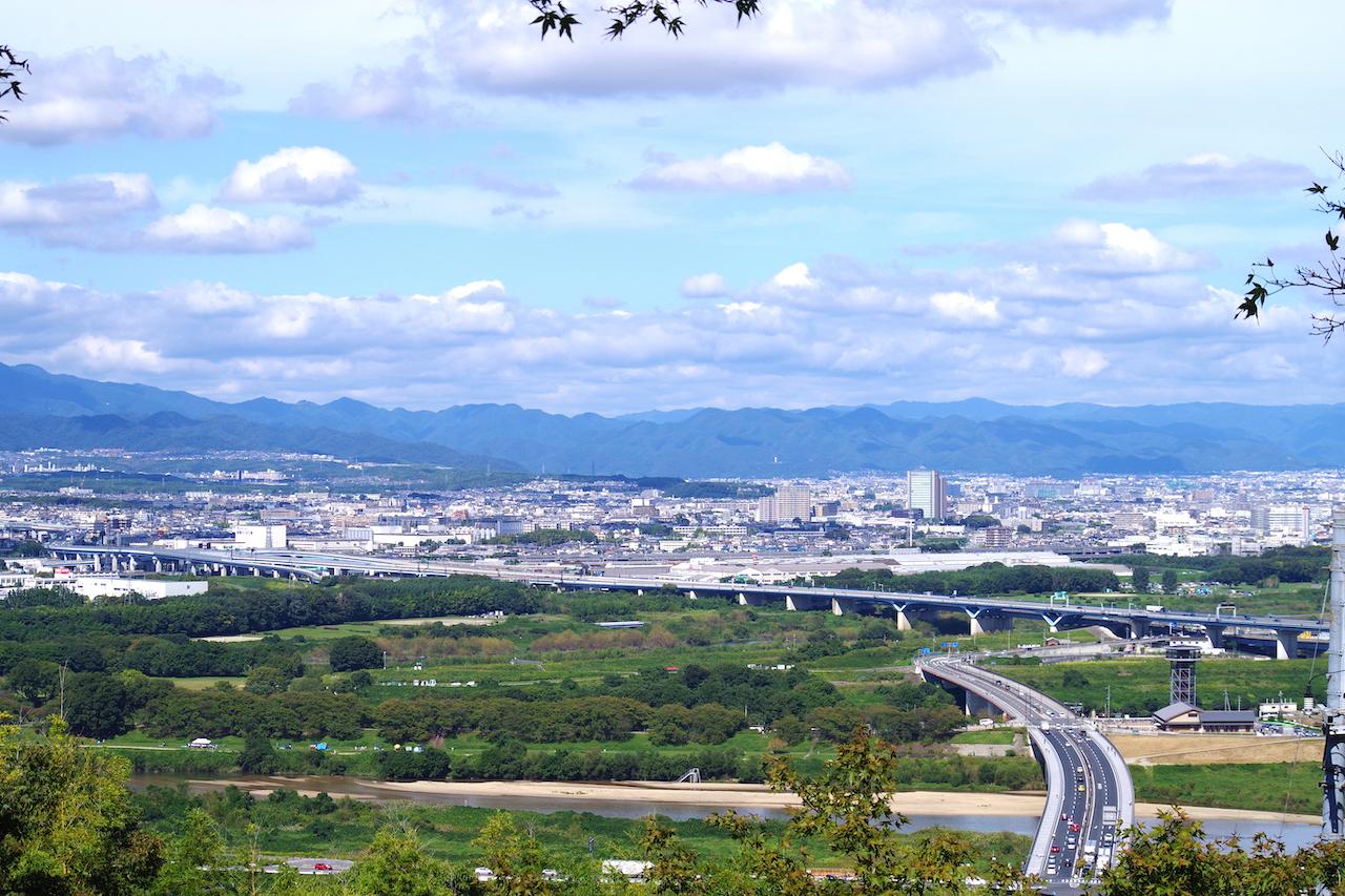 石清水八幡宮(男山)からの眺め