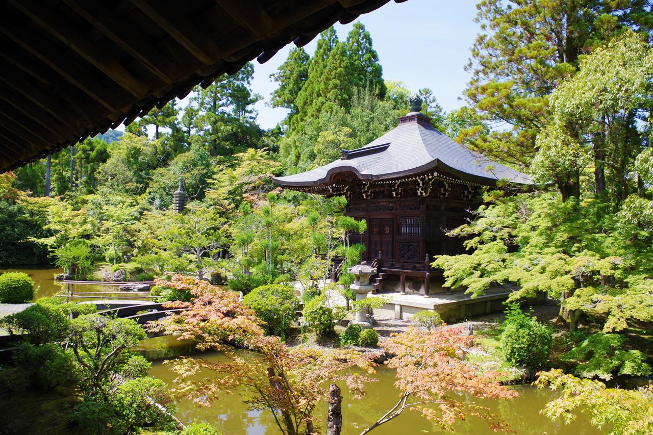 清凉寺の弁天堂と川中島