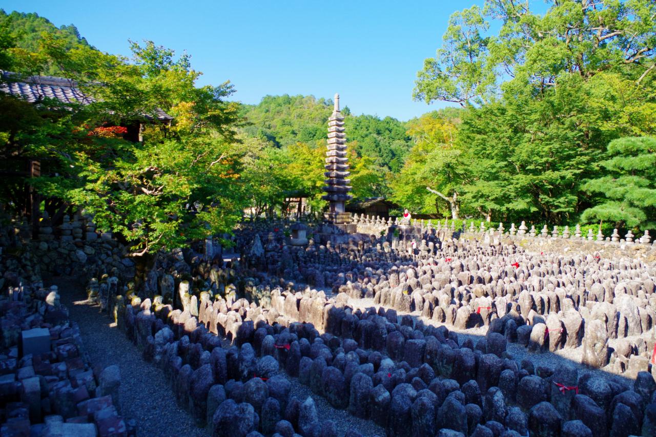 祇王寺周辺の化野念仏寺
