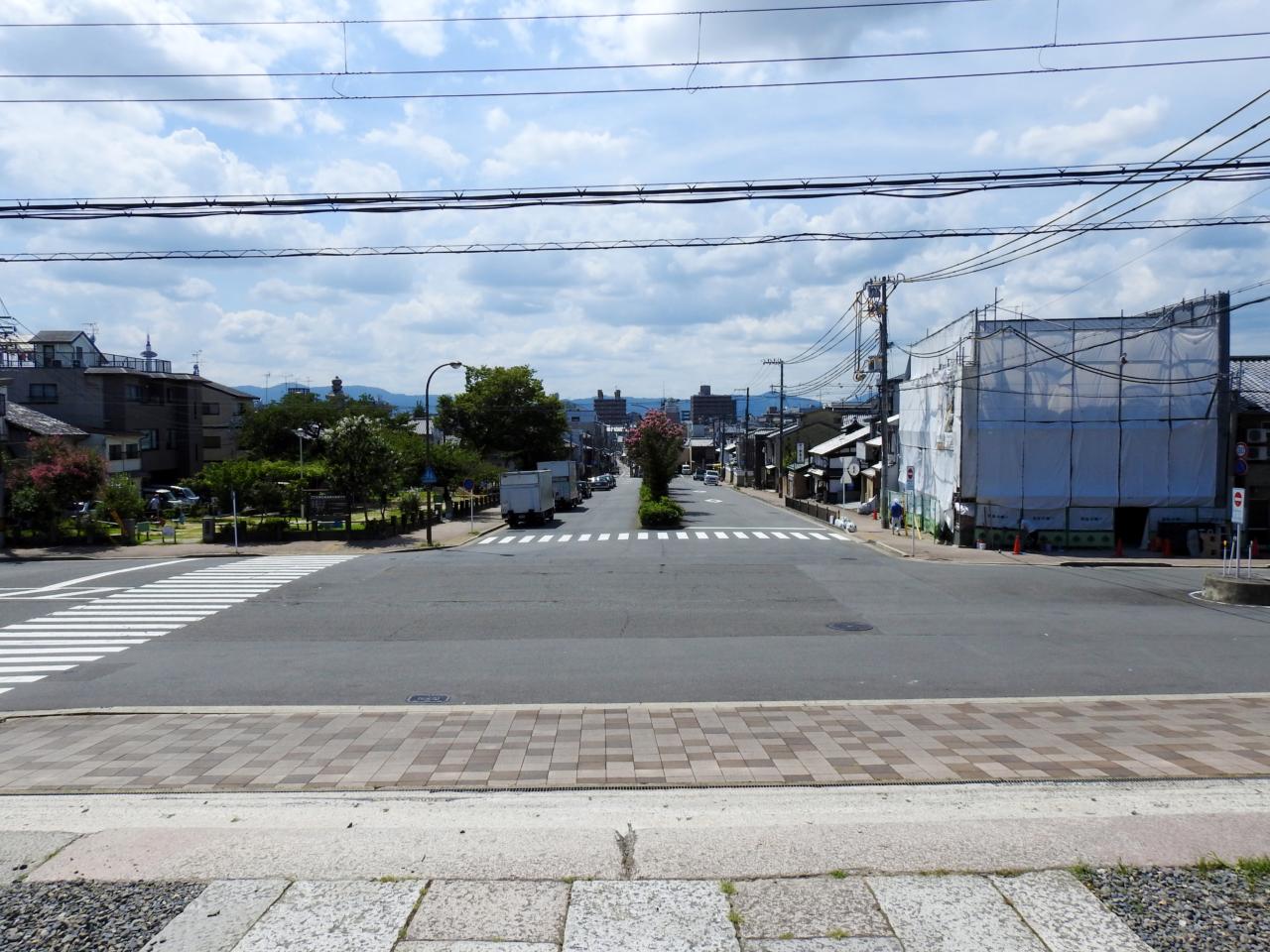 豊国神社前の街並み