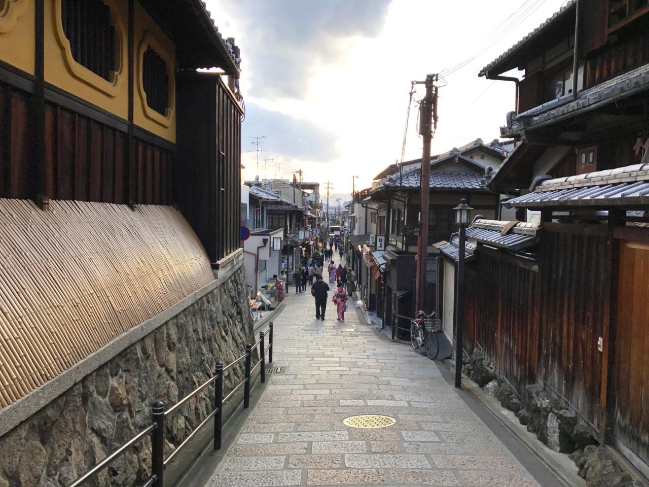八坂の塔周辺の街並み