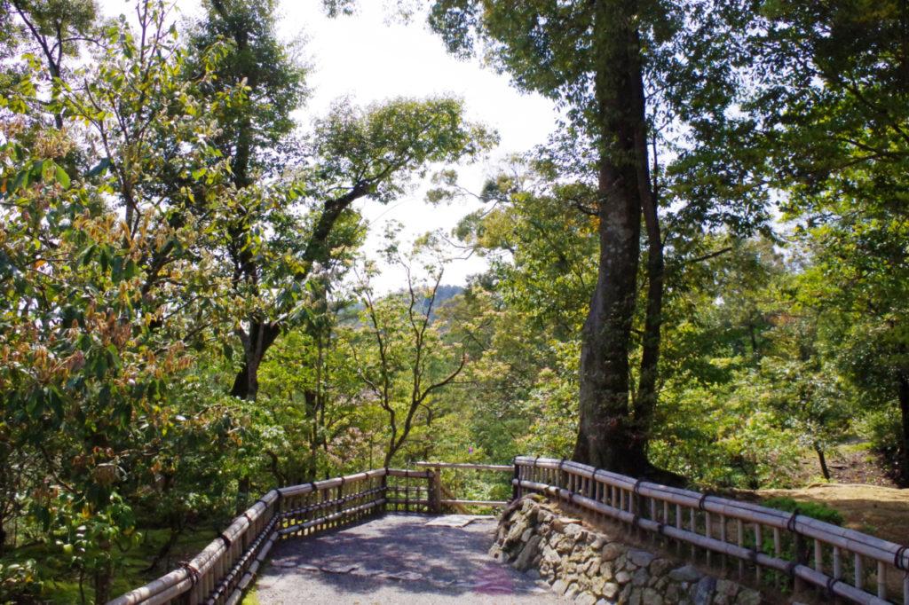 金閣寺の境内通路